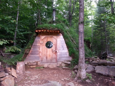 Entrance to Natural Hut